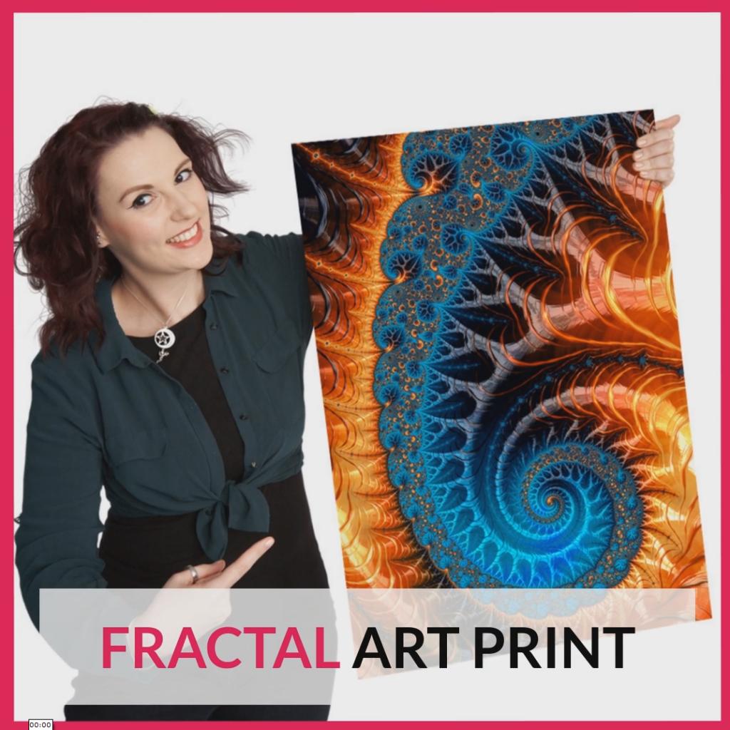 Fractal Spiral Promo Video Square Format
